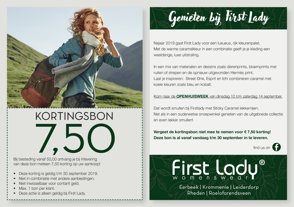 kortingbon voor first lady